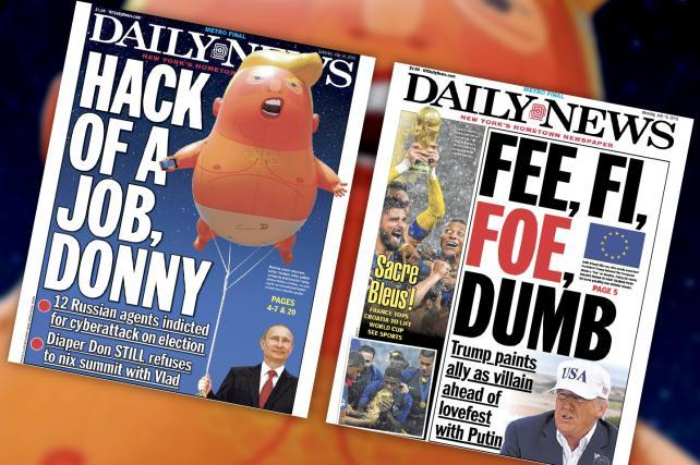 The Daily News put the Trump Baby blimp to creative use