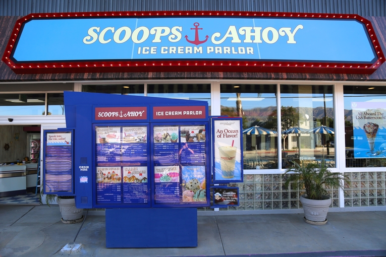 Netflix transformed a Baskin-Robbins store into 'Stranger Things' ice cream parlor Scoops Ahoy