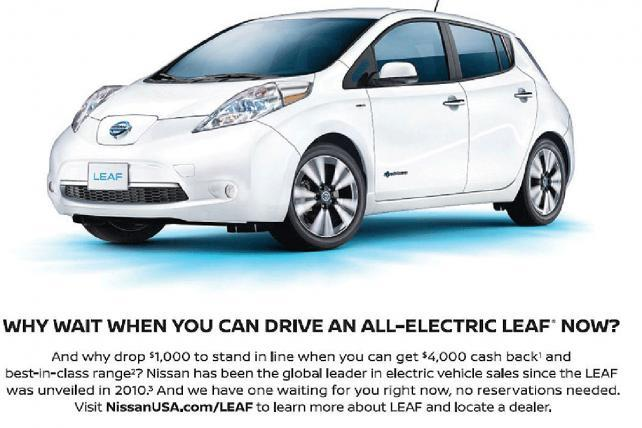 Nissan Ads Take a Poke at Upstart Tesla