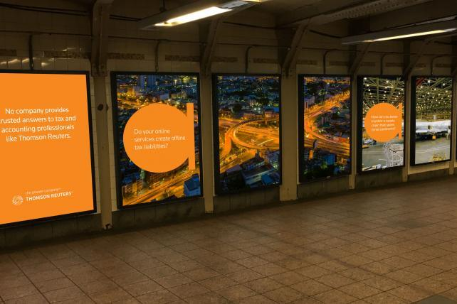 Thomson Reuters Takes Over Grand Central Station