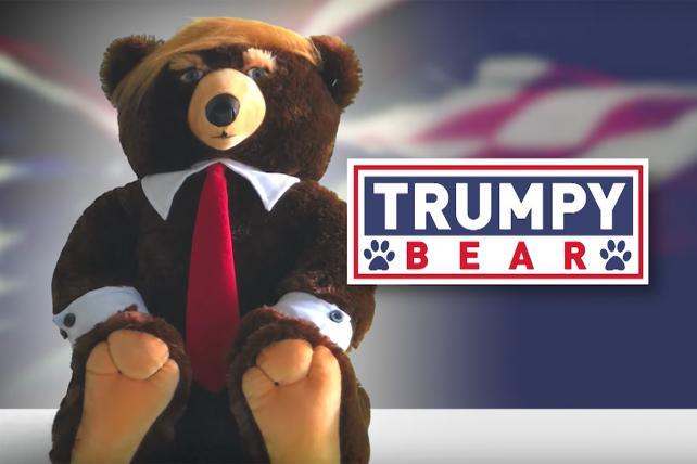 Trumpy Bear makes a splash on Fox News (and trends on Twitter)