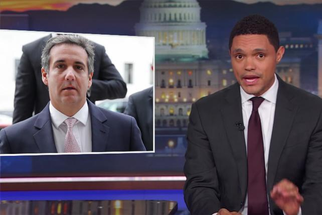 Watch: Trevor Noah wonders how AT&T and Novartis got tricked by Michael Cohen's 'Nigerian prince scam'