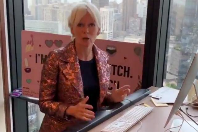 Watch Hearst Mags Chief Content Officer Joanna Coles exit by treadmill