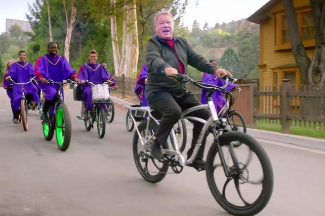 William Shatner talks electric bikes, climate change and a forgotten scar