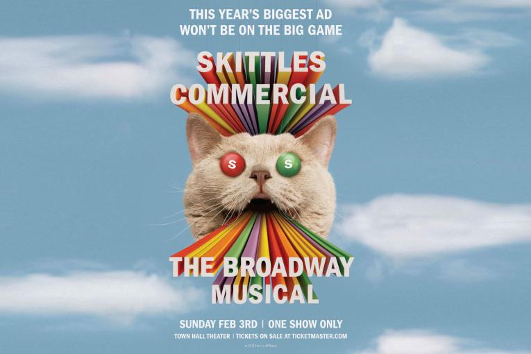 Skittles' Super Bowl Sunday stunt is a 30-minute Broadway show
