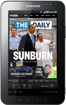 The Daily Adds Android Version on Verizon-Marketed Tablets