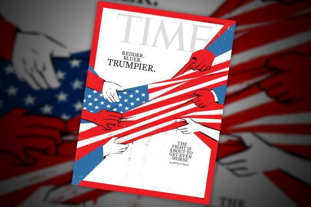 America just got redder, bluer and Trumpier, says Time magazine