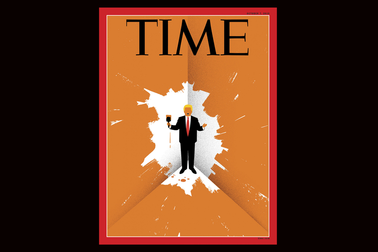 Time: Edel Rodriguez Trump Paints Himself Into Corner Cover
