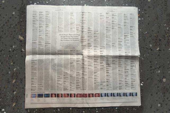 Why Today's New York Times Is a Total (Trumpy) Collector's Item