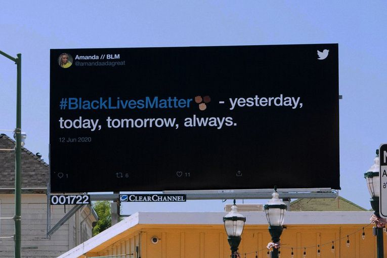 Twitter: Black Lives Matter Billboards