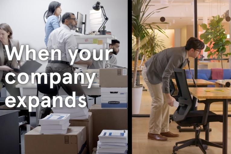 Cramped office workers spill out into a whole new world in