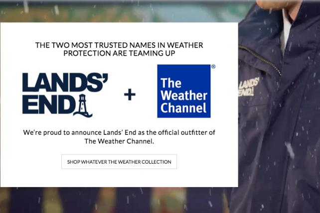 4eba9f406 Wardrobe Switch: The Weather Channel Sheds LLBean for Lands' End   AdAge