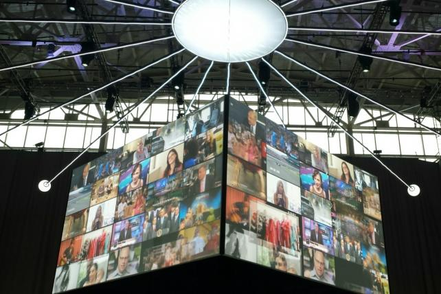 Video From AOL's Lavish Brooklyn NewFronts: Muscle on Display