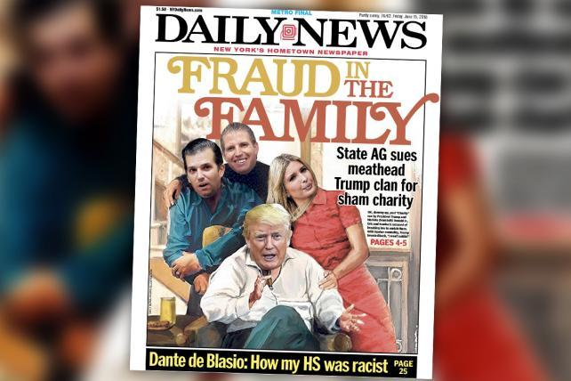 'Meathead Trump clan' gets the 'All in the Family' treatment from the Daily News