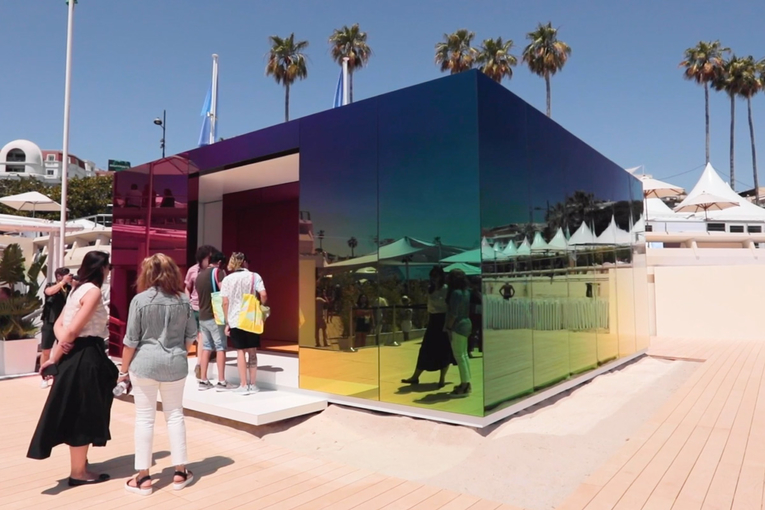 Instagram's Pride installation at Cannes celebrates LGBTQ people in front of the lens