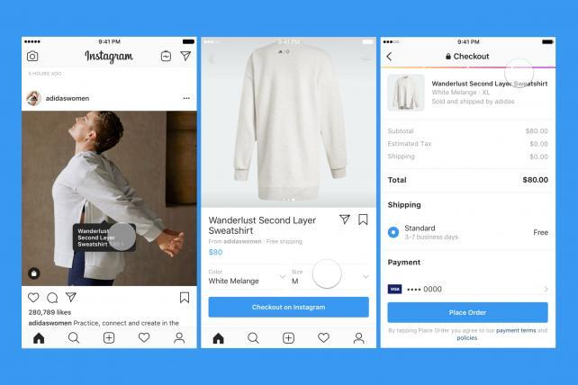 Instagram's new checkout feature allows users to shop in app