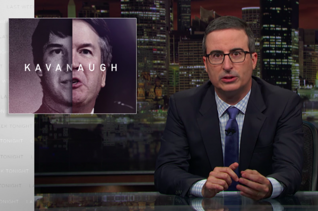 Watch John Oliver rebrand Brett Kavanaugh as 'Judge Animal House'