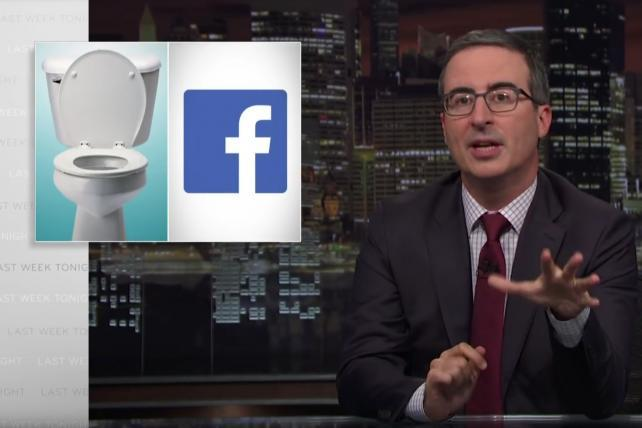 'Facebook is a toilet': Watch John Oliver's hilariously harsh PSA for developing nations