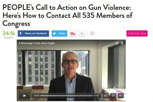 People Magazine Speaks Out on Gun Violence
