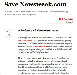 Newsweek.com's Defense and the Dead's Rising Wave on Facebook