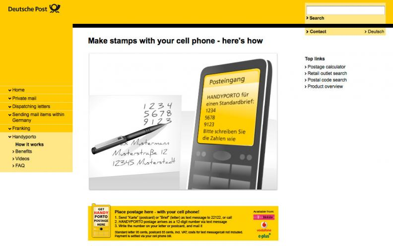 Deutsche Post Text Stamps Adage