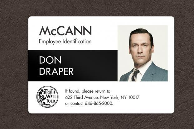Mccann Creates New Id Cards For The Former Sterling Cooper Staff Adage