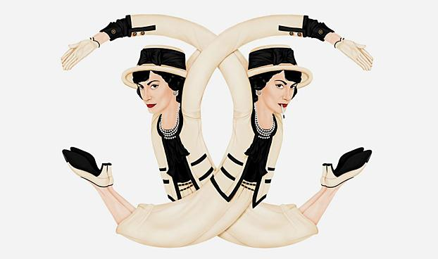 Coco Chanel Marc Jacobs And Louis Vuitton Twist Into Their Classic Logos Ad Age