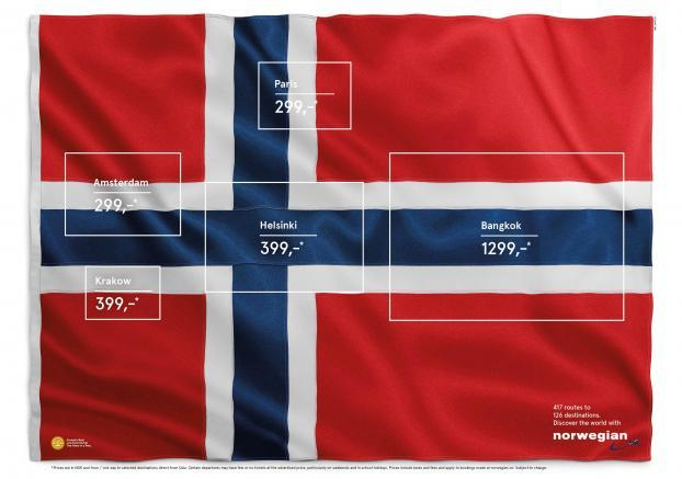 Norway's Flag Is Home to Many Countries In Clever Print Ad for