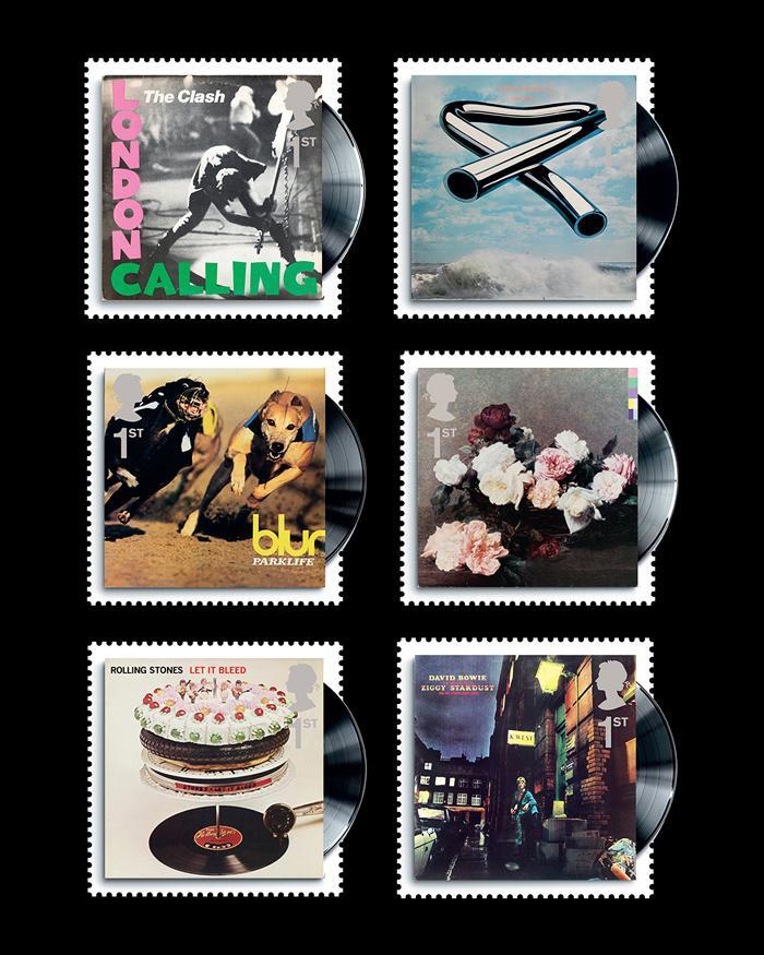Album Cover Stamps