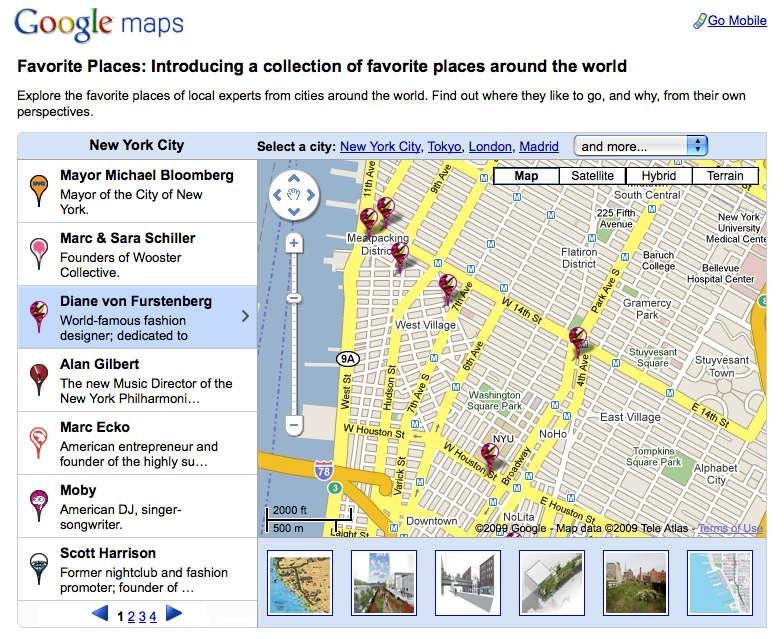 Google Maps : Favorite Places | AdAge