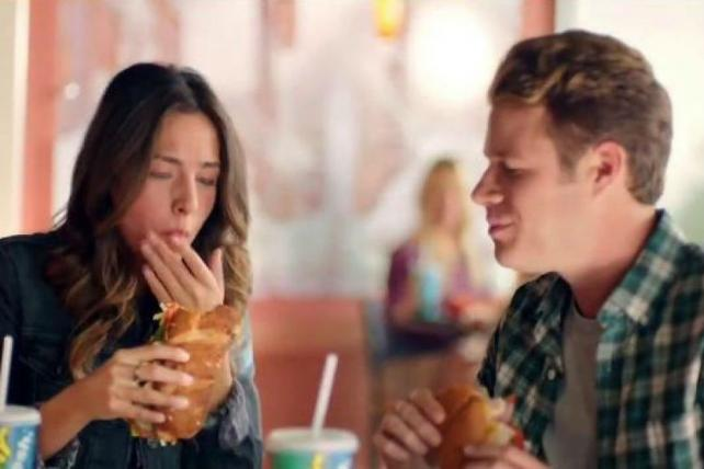 Love Blooms Over Subway Chicken Strips; See TV's Newest Ads