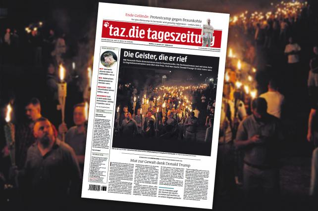 'Courage for Violence, Thanks to Donald Trump': A German Newspaper Responds to Charlottesville