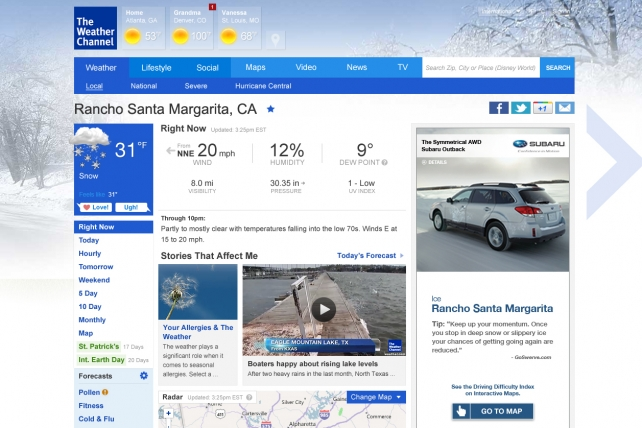 The Weather Co. Helps Marketers Check the Forecast