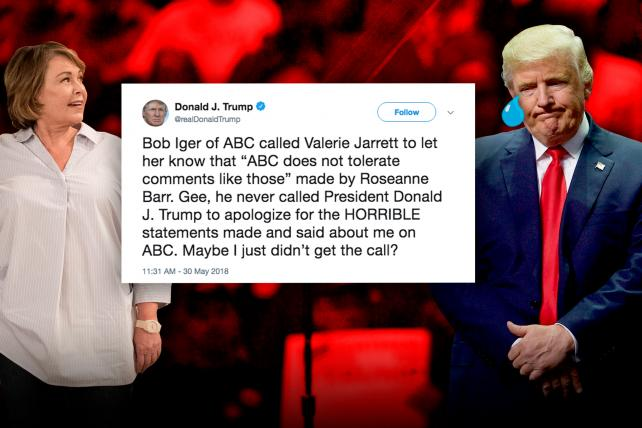 Trump doesn't defend Barr, but takes aim at ABC