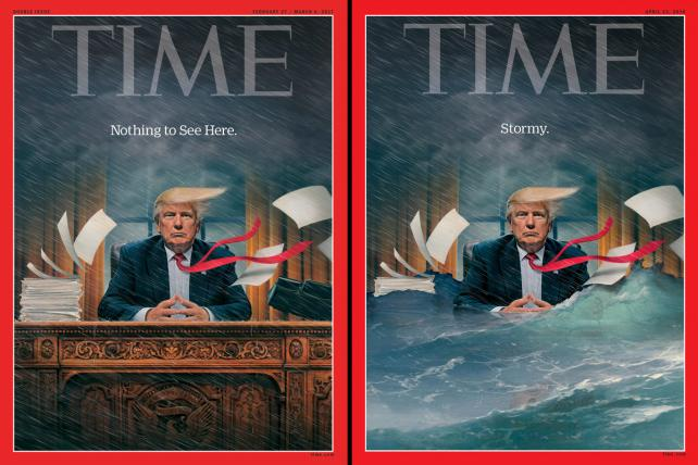 Time really had no choice but to update another Trump cover